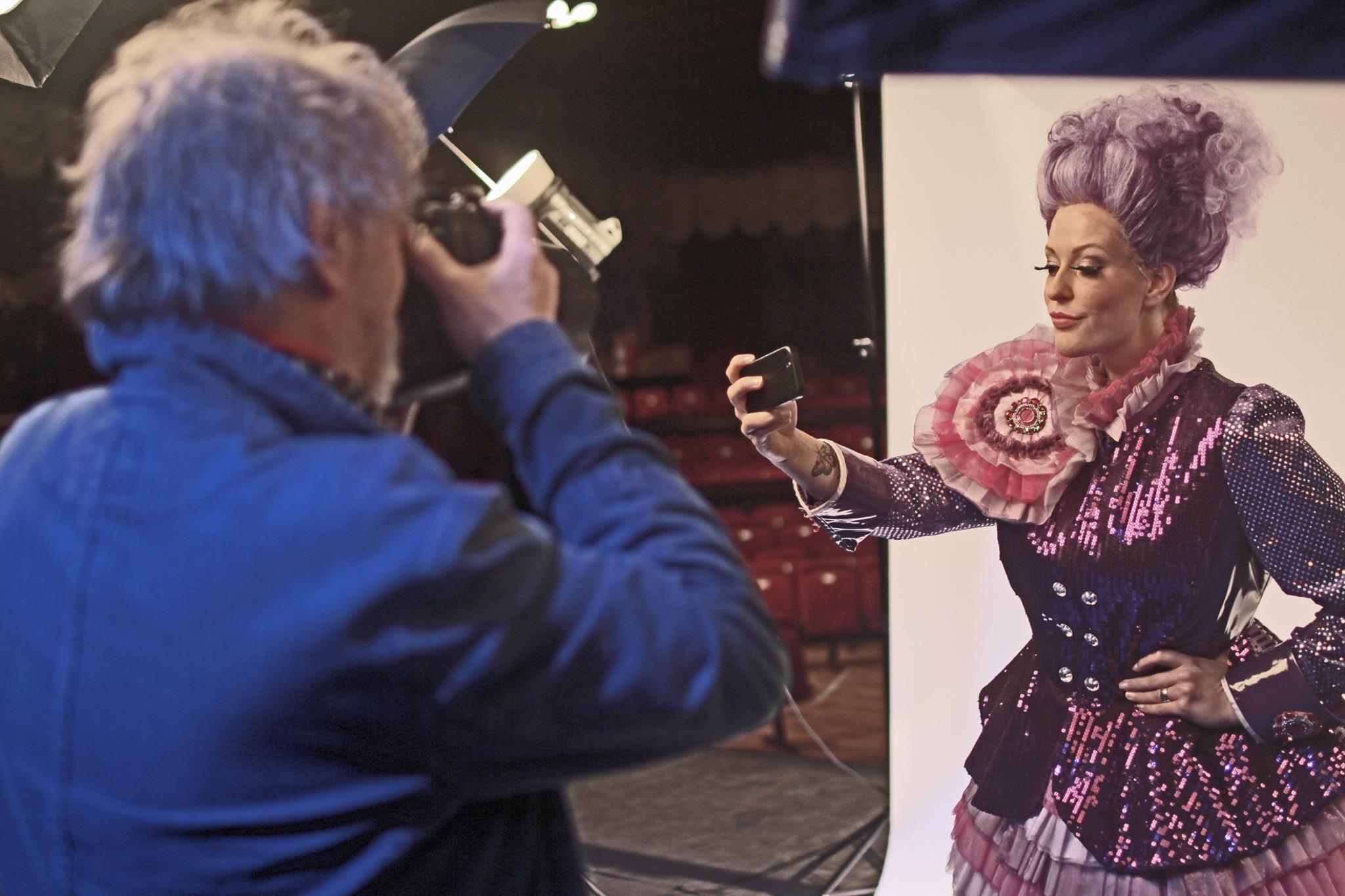 Backstage at Cinderella Belgium